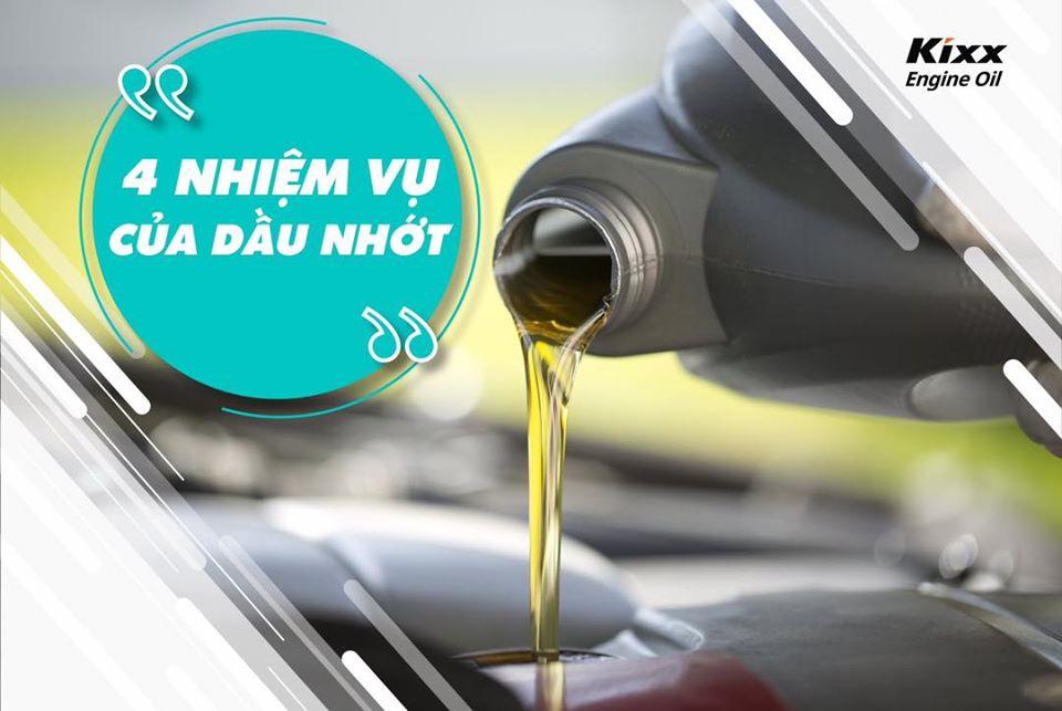 4 nhiệm vụ của dầu nhớt