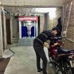 Chuyển giao hệ thống rửa xe máy tự động